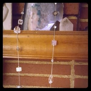 Premier Design String and Crystal Glass Necklace